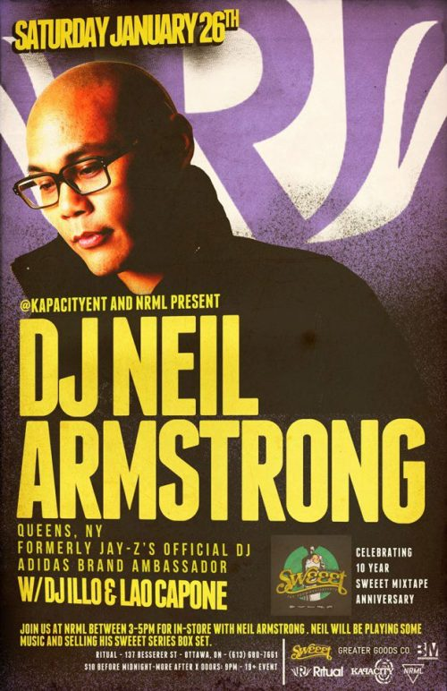 DJ NEIL ARMSTRONG (ADIDAS/FORMERLY JAY-Z'S DJ/5TH PLATOON) | RITUAL | JAN 26, 2013