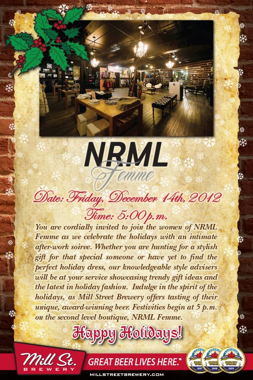 NRML Femme Holiday Launch Party!