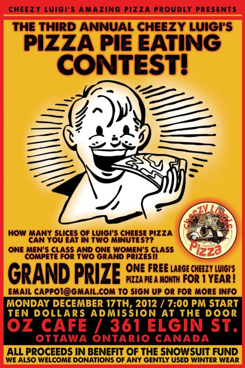 Cheezy Luigis Pizza Eating Contest