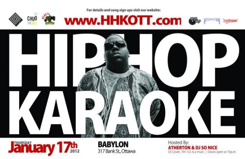 HIP HOP KARAOKE OTTAWA - January Edition