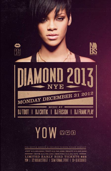 DIAMOND 2013 NYE at YOW