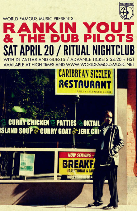 RANKING YOUT AND THE DUB PILOTS + DJ Zattar | WFM 4/20 OFFICIAL | Saturday, April 20 | Ritual Nightclub, OTTAWA