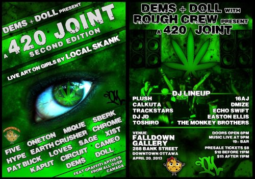 DEMS & DOLL Present: A 420 Joint Second Edition with ROUGH CREW @ FALLDOWN