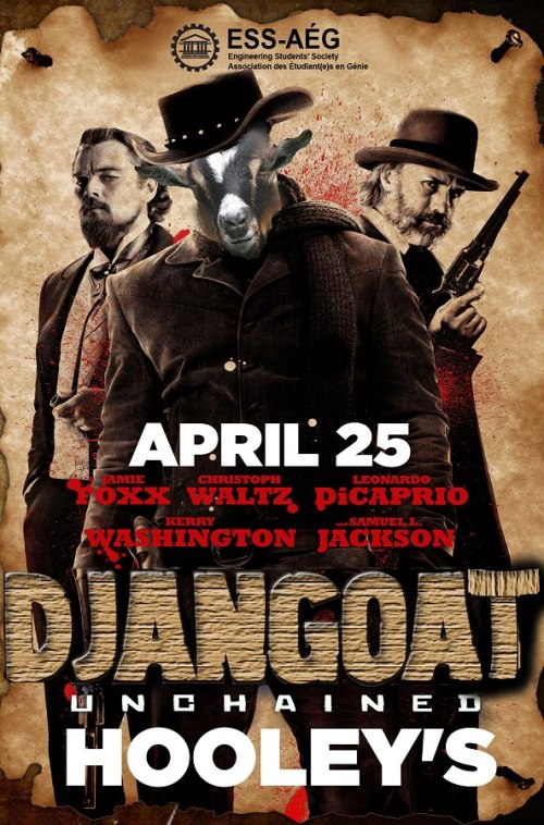 DJANGOAT UNCHAINED (GOAT: Go Out After T'Exams)