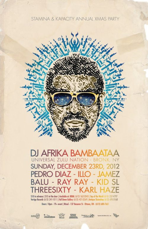 STAMINA & KAPACITY ANNUAL XMAS PARTY w/ AFRIKA BAMBAATAA (Zulu Nation) & FRIENDS | Ritual | Dec 23