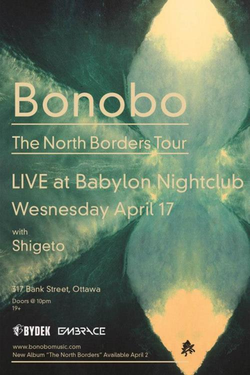 Wednesday, April 17th - 10pm Bydek & Embrace present Bonobo & Shigeto