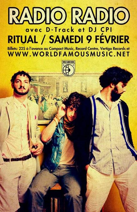 RADIO RADIO + D-Track +DJ CPI | Samedi 9 Février | Ritual Nightclub, Ottawa