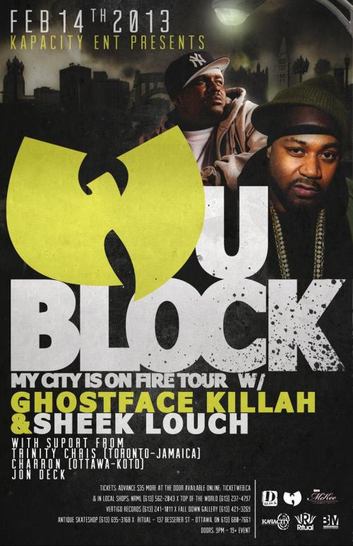 WU-BLOCK / GHOSTFACE KILLAH & SHEEK LOUCH / FEB 14 LIVE @ RITUAL