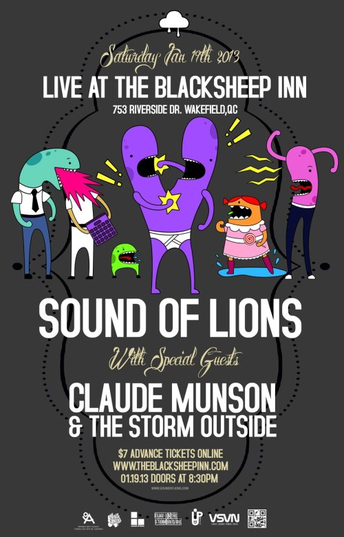 Sound of Lions and Claude Munson & The Storm Outside play The Blacksheep Inn