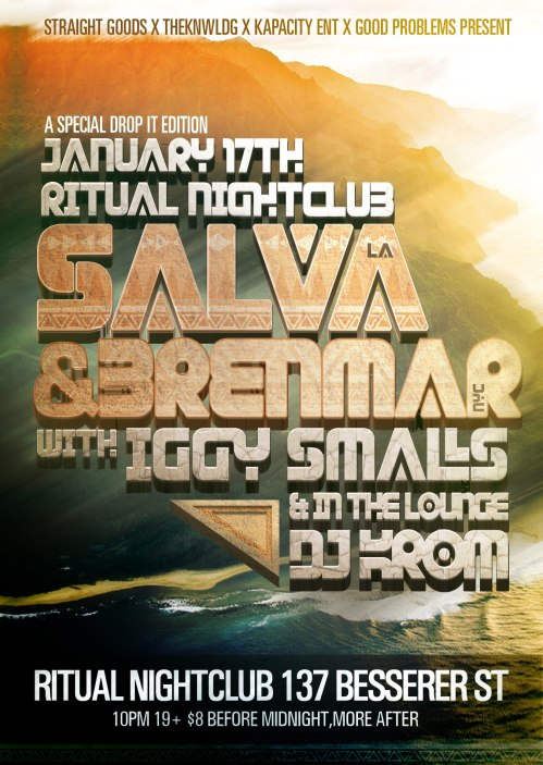 SALVA (LA) & BRENMAR (NYC) | Jan 17 @ Ritual