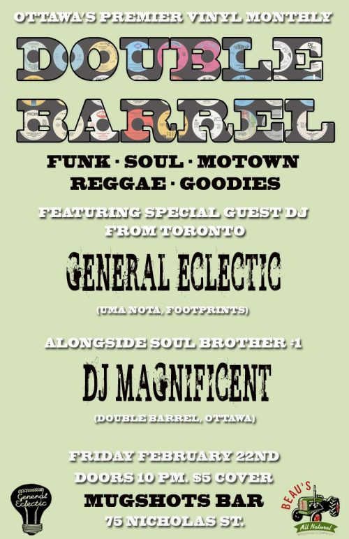 DOUBLE BARREL with guest DJ General Eclectic