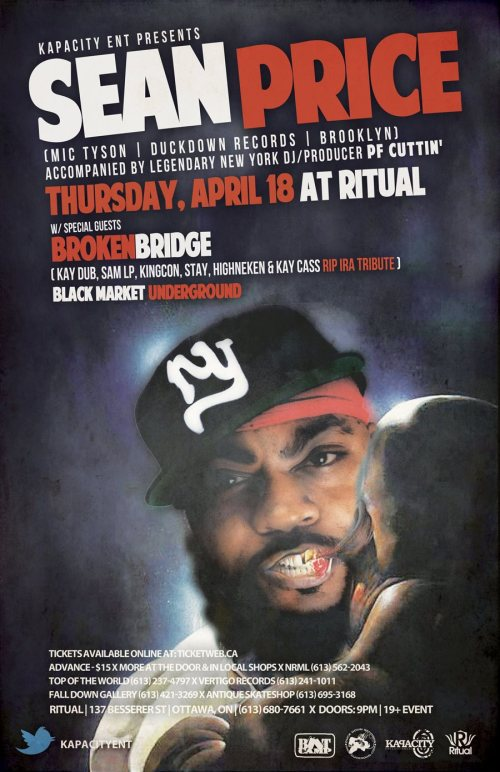 SEAN PRICE aka SEAN P (Boot Camp Clik/Duckdown) | LIVE at RITUAL | Thu, Apr 18, 2013