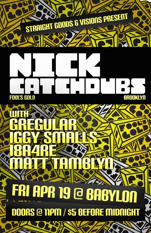 NICK CATCHDUBS (Brooklyn - Fool's Gold co-founder) | Fri Apr 19 @ Babylon