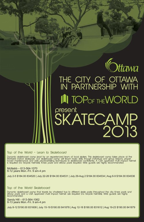 TOP OF THE WORLD SKATECAMP 2013