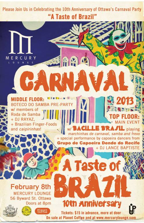 Brazilian Carnaval - A Taste of Brazil - Party Celebrating 10 years in Ottawa