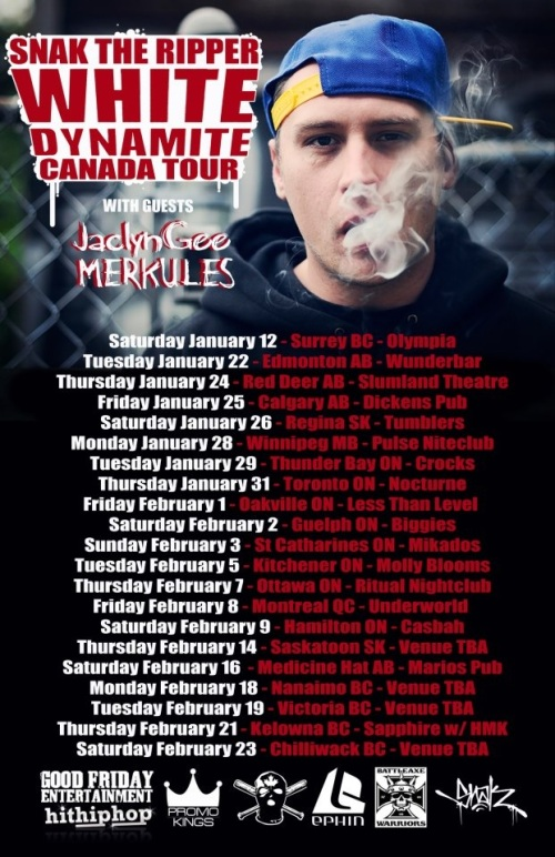 SNAK THE RIPPER | White Dynamite Canada Tour | Ritual | Feb 7, 2013