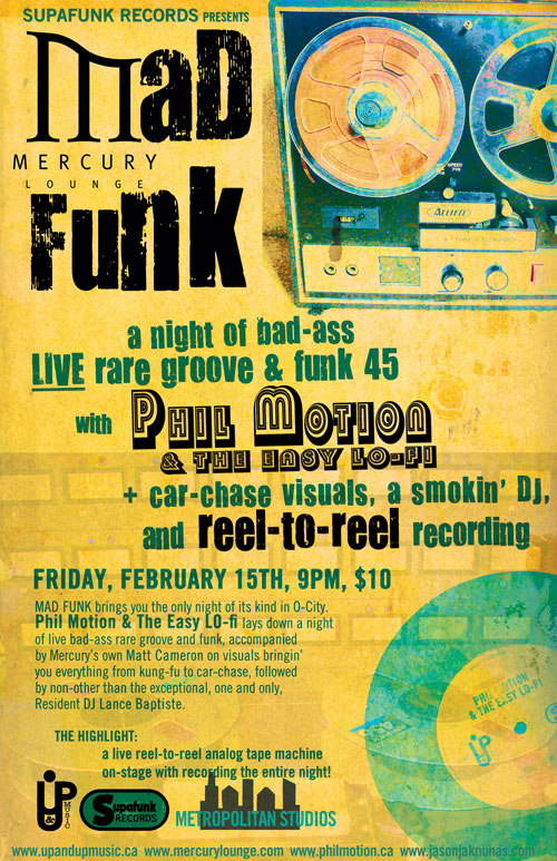 MaD FuNK w/ Phil Motion & The Easy LO-Fi @ Mercury Lounge!